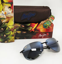 New Maui Jim Polarized SUGAR BEACH Gloss Black / Neutral Grey Sunglasses 421-02