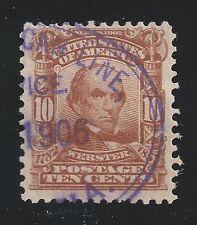 HAMBURG AMERICAN LINE ( SHIP ) SERVICE  - Purple FANCY CANCEL - 1906 on US# 307
