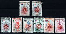 DOMINICAN REPUBLIC  OLYMPICS OPT REFUGIES HONGROIS  SET OF 8  MNH 88M582