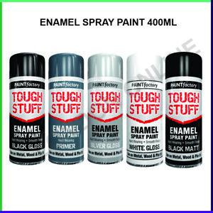 Enamel Spray Paint Aerosol Household Appliance Black White for wood metal 400ml