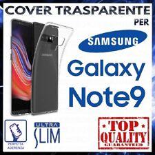 COVER per SAMSUNG GALAXY NOTE 9 SM-N960FD Custodia Trasparente Silicone Slim TPU