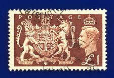 More details for 1951 sg512 £1 brown q38 lloyds building cds 30 de 54 fine used cat £18 ddqq