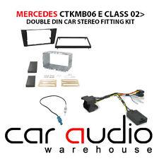 Mercedes E Class W211 02-09 Car Stereo D/Din Fascia & Steering Wheel Kit CTKMB06