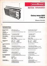 Service Manual-Anleitung für Nordmende Galaxy Mesa 6600 3.102 A