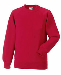 Russell Athletic Kids Childrens Jerzees Sweatshirts Various Sizes and Colours