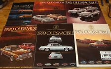 1978 1979 1980 1981-1990 Oldsmobile Cutlass Deluxe Sales Brochure Lot of 13