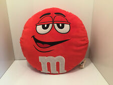 Round Red M&M Soft Plush Cushion M&M Collectable Souvenir