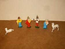 Anciennes figurines en plastique - CRÈCHE DE NOEL - marque NARDI (made in Italy)