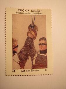 Auf die Mensur - Marke - Tuck's Künstler-Postkarten-Markenbilder / Studentika