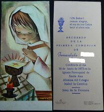 ESTAMPA PRIMERA COMUNION PARROQUIA DE SANTA ANA JEREZ 1973 HOLY CARD      CC1268