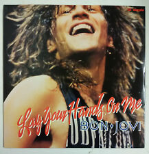 "Bon Jovi Lay Your Hands On Me Maxisingle 12"" USA 1989 incluye poster desplegable"