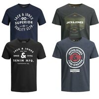 Mens Jack and Jones Printed Casual T Shirts Short Sleeve Crew Neck Tee Febby