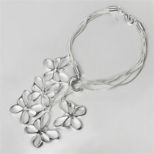 Five Butterfly Bracelet Chain Jewelry Plate 925 Sterling Silver Valentine Gift