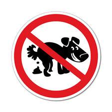 No Pet Dog Pooping Sign Sticker Decal Safety Sign Car Vinyl #5135EN