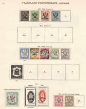 NYASALAND: 1891-1901 Examples - Ex-Old Time Collection - 2 Sides Page (33169)