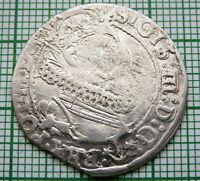 POLAND LITHUANIA SIGISMUND III WASA 1625 SZOSTAK - 6 GROSZ GROSCHEN, SILVER