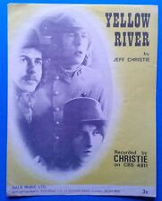 SHEET MUSIC,CHRISTIE,Yellow river.Sixties Beat.See others & save post