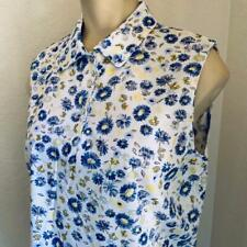 TAIL Floral Cotton Blend Sleevless Women's Polo Size Medium NWT $65*