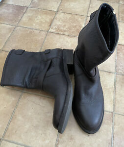 Cara London Ladies Chocolate Brown Soft Leather Ankle Boots, Size 41 (UK 7), Vgc