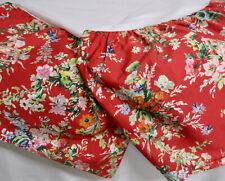 RALPH LAUREN Red Floral Italian Cotton BELLE HARBOR King Bed Skirt Dust Ruffle