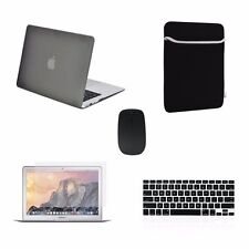 "5 IN 1 Macbook Air 13"" Rubberized Gray Case + Keyboard Cover + LCD + Bag +Mouse"