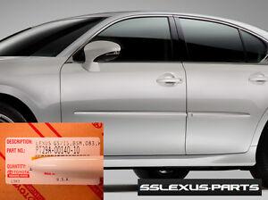 Lexus GS350 GS540H (2014-2016) OEM BODY SIDE MOLDINGS SET (Ultra White) (083)