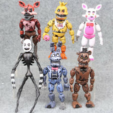 """""""Five Night at Freddy Nightmare 5"""""""" Set of 6 Action Figures Gift Collectible  RN"""