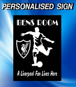 LIVERPOOL FOOTBALL HOUSE SIGN PERSONALISED ANY NAME GLOSS SIGN