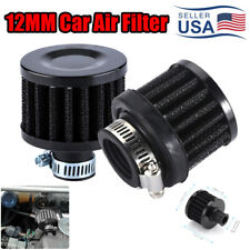12mm Cold Air Intake Filter Turbo Vent Crankcase Car Breather Valve Cover Black