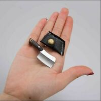 Mini Pocket Chopping Knives Keychain Cleaver Neck Knife Pendant Wood Handle Tool
