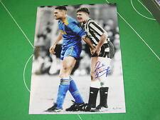 Newcastle United Paul Gazza Gascoigne Signed Classic Vinnie Jones Photograph