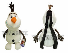 "DISNEY'S FROZEN ORIGINAL OLAF PLUSH BACKPACK! BLACK STRAP SOFT STUFFED 18"" NWT"