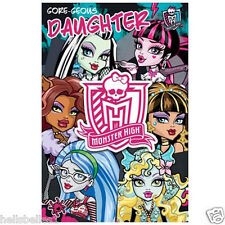 "OFFICIAL MONSTERS HIGH ""DAUGHTER"" BIRTHDAY/GREETINGS CARD **FREE 1ST CLASS P&P**"