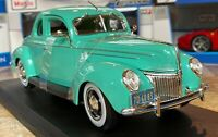 1939 Ford Deluxe Coupe Mint Green Maisto 1:18 Diecast Metal Model Car New in Box