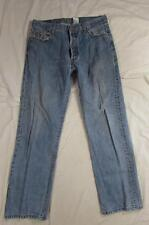 Levi 501 Button Fly Straight Leg Faded Denim Jeans Tag 36x32 Measure 35x31.5