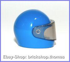 Lego Helm mit Visier blau - 2446 & 2447- Minifig Helmet Visor blue - NEU / NEW