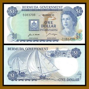 Bermuda 1 Dollar, 1970 P-23 Queen Elisabeth II (AU)