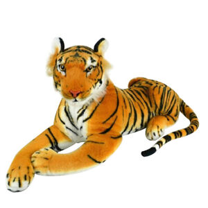 CHILDREN PLUSH ARTIFICIAL SIMULATION Tiger fur FABRIC DOLL TOYS doudous Y1U1