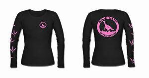 Hunting t shirt Turkey Dixie Land Outdoors Women's Long Sleeve girls huntress