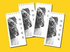 Boxer Dog Pack of 4 Small Slim Note Pads Gift Set