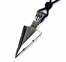 N22b Edelstahl Anhänger PFEILSPITZE Herren Halskette Lederkette Leather Necklace