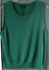 Talbots 100% CASHMERE Cardigan 2-PLY Misses (S) Small Forest Green 3/4 Sleeve