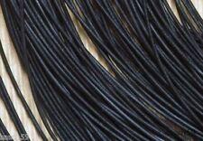 Lederband 1,6mm schwarz 10m Büffelleder Lederriemen Lederschnur Lederbänder NEU