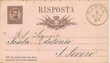 BARRA  -  INTERO POSTALE  -  Viagg. 8 SET 1887  -  Mittente : Giovanni Sannino
