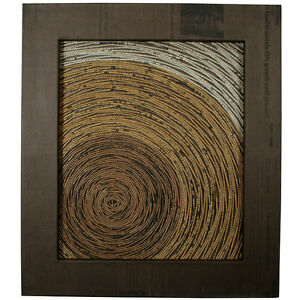 Recycled Corrugated Cardboard Tree Ring Wall Art Handmade in the Philippines