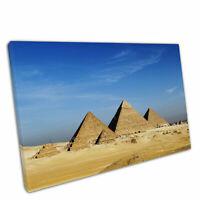 "Print on Canvas blue skies Great Pyramids of Giza Egypt Egyptian Wall Art 30x20"""