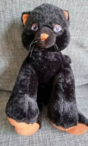Build A Bear Halloween Witches Cat Midnight Black Sparkle Kitty Cat Plush Rare