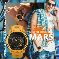 NORTH EDGE MARS Digital Sports Watch Wirstwatch Pedometer Distence Waterproof