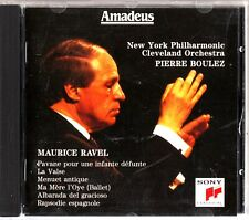 RAVEL: Orchestral Works, New York Philharmonic CD -Puerre Boulez (Amadeus)