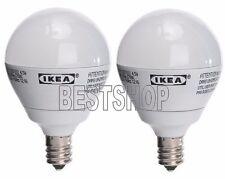 IKEA 2 PACK LEDARE E12 200 LM LED LIGHT BULB GLOBE OPAL